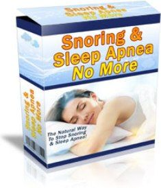 Snoring & Sleep Apnea No More e-cover