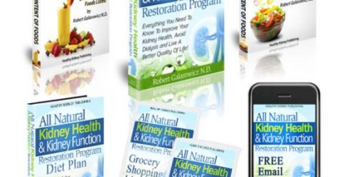 All Natural Kidney Health & Kidney Function Restoration e-cover