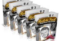 Realistic Pencil Portrait Mastery e-cover