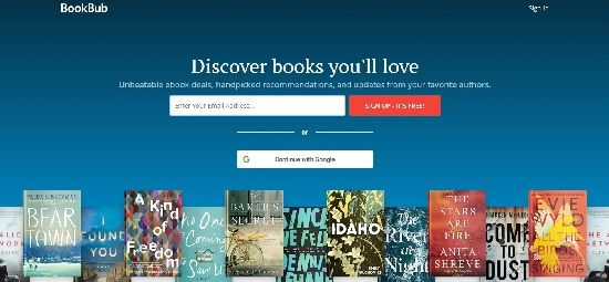 BookBub screenshot