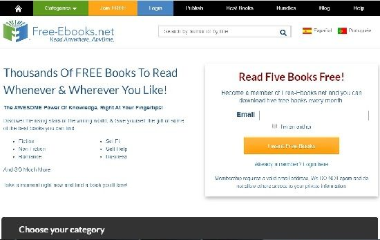 Free-eBooks.net screenshot